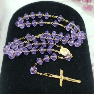 New purple colored rosary